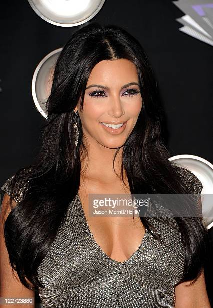 TV personality Kim Kardashian arrives at the 2011 MTV Video Music Awards at Nokia Theatre LA LIVE on August 28 2011 in Los Angeles California