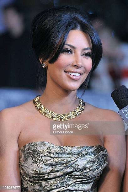 TV personality Kim Kardashian arrives at the 2011 People's Choice Awards at Nokia Theatre LA Live on January 5 2011 in Los Angeles California