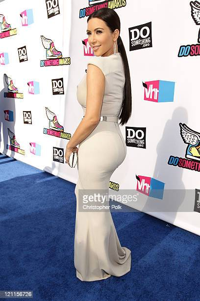 Personality Kim Kardashian arrives at the 2011 VH1 Do Something Awards at the Hollywood Palladium on August 14 2011 in Hollywood California