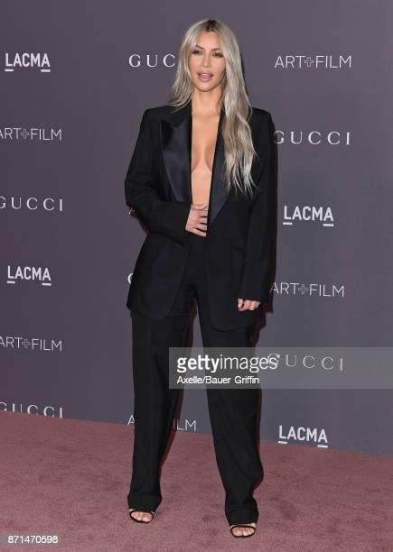 TV personality Kim Kardashian arrives at the 2017 LACMA Art Film Gala at LACMA on November 4 2017 in Los Angeles California