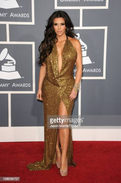 TV personality Kim Kardashian arrives at The 53rd Annual GRAMMY Awards held at Staples Center on February 13 2011 in Los Angeles California