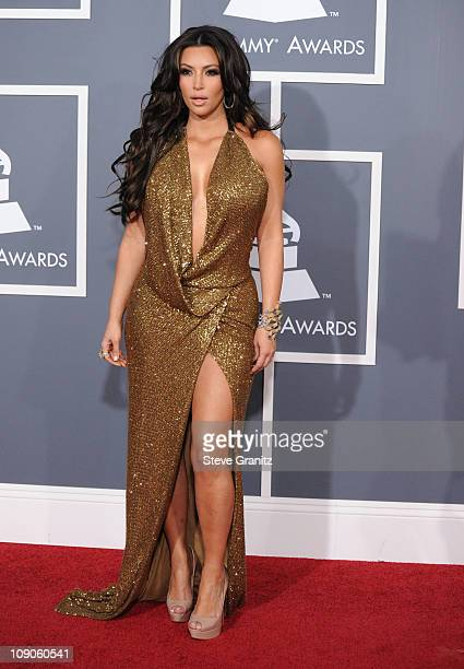 Personality Kim Kardashian arrives at The 53rd Annual GRAMMY Awards held at Staples Center on February 13 2011 in Los Angeles California