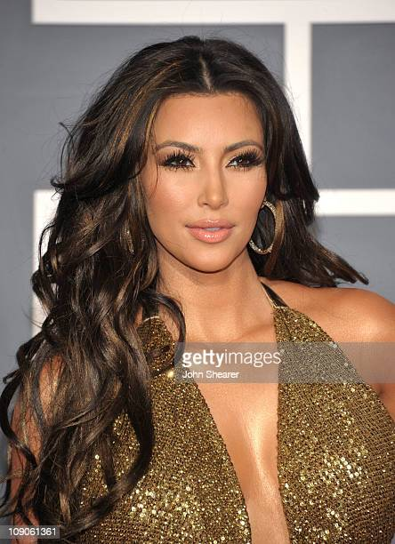 Personality Kim Kardashian arrives at The 53rd Annual GRAMMY Awards held at Staples Center on February 13, 2011 in Los Angeles, California.