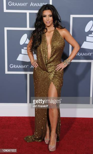 TV personality Kim Kardashian arrives at The 53rd Annual GRAMMY Awards at Staples Center on February 13 2011 in Los Angeles California