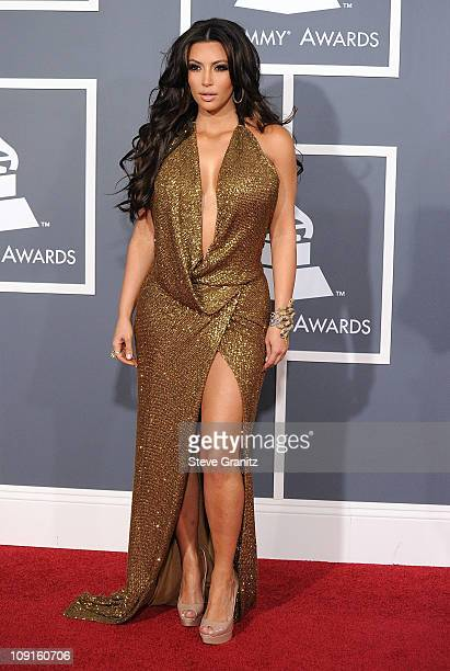 Personality Kim Kardashian arrives at The 53rd Annual GRAMMY Awards at Staples Center on February 13 2011 in Los Angeles California