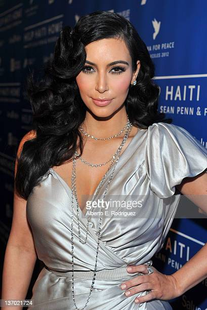 TV personality Kim Kardashian arrives at the Cinema For Peace event benefitting J/P Haitian Relief Organization in Los Angeles held at Montage Hotel...