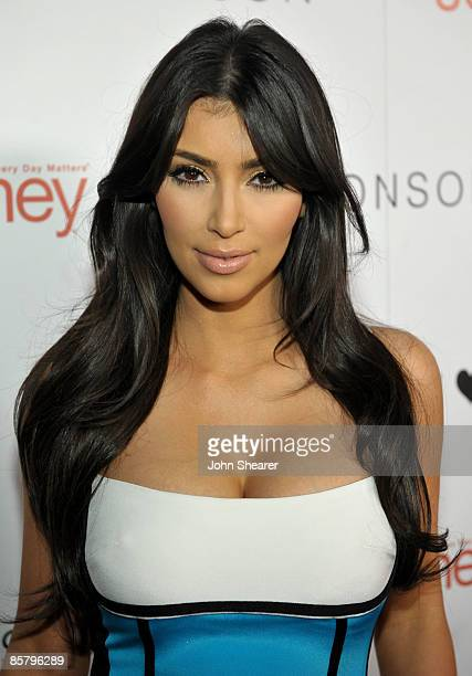 TV personality Kim Kardashian arrives at the I Heart Ronson launch party presented by Charlotte Ronson and JCPenney held at Bar Marmont on April 3...
