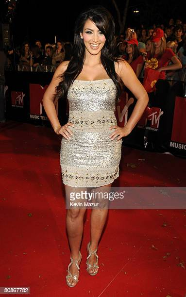 Personality Kim Kardashian arrives at the MTV Australia Awards 2008 at the Australian Technology Park Redfern on April 26 2008 in Sydney Australia...