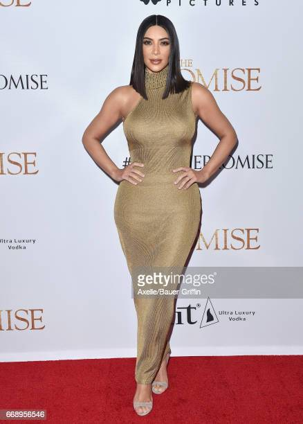 TV personality Kim Kardashian arrives at the Premiere of Open Road Films' 'The Promise' at TCL Chinese Theatre on April 12 2017 in Hollywood...