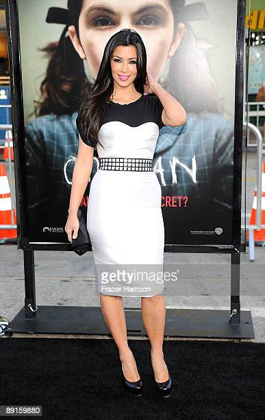 Personality Kim Kardashian arrives at the Premiere Of Warner Bros Orphan at the Mann Village Theatre on July 21 2009 in Westwood Los Angeles...