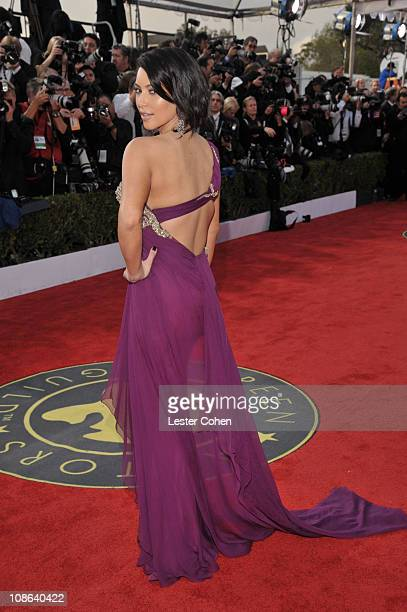 TV personality Kim Kardashian arrives at the TNT/TBS broadcast of the 17th Annual Screen Actors Guild Awards held at The Shrine Auditorium on January...