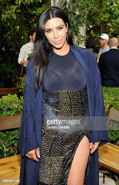 TV personality Kim Kardashian attends CFDA/Vogue Fashion Fund Show and Tea at Chateau Marmont on October 20 2015 in Los Angeles California