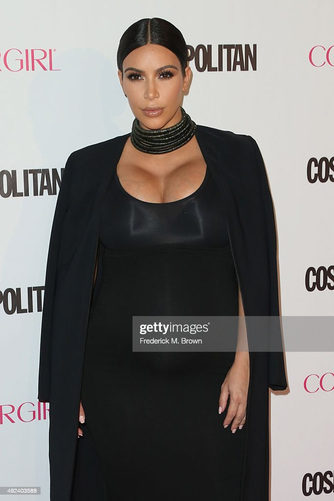 TV personality Kim Kardashian attends Cosmopolitan's 50th Birthday Celebration at Ysabel on October 12, 2015 in West Hollywood, California.