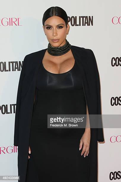 TV personality Kim Kardashian attends Cosmopolitan's 50th Birthday Celebration at Ysabel on October 12 2015 in West Hollywood California