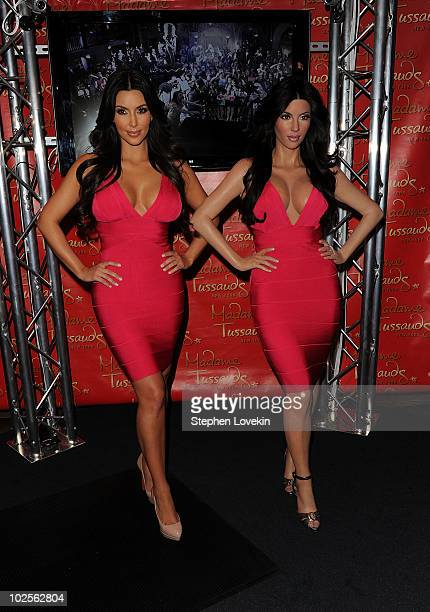 TV personality Kim Kardashian attends her wax figure unveiling at Madame Tussauds on July 1 2010 in New York City