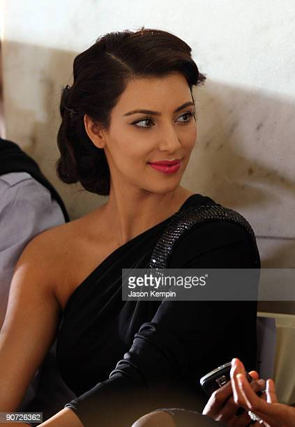 TV personality Kim Kardashian attends Jill Stuart Spring 2010 fashion show at The New York Public Library on September 14 2009 in New York New York