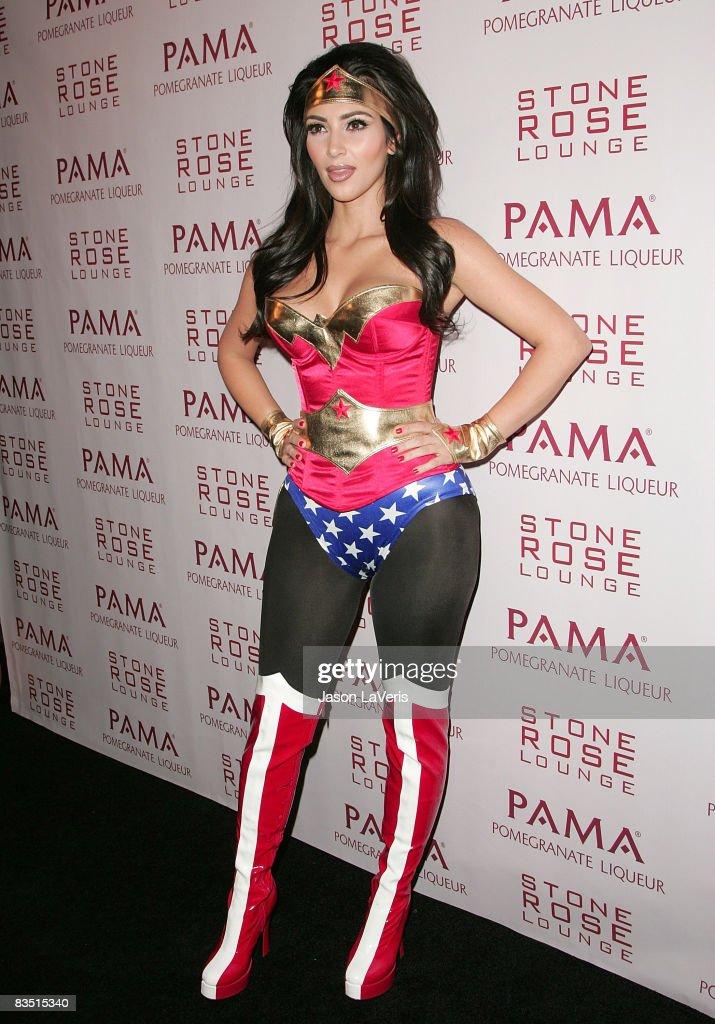 Kim Kardashian Hosts Halloween Masquerade at Stone Rose : News Photo