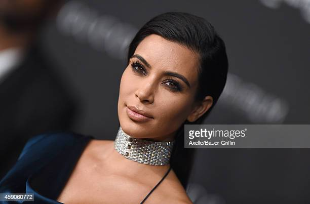 TV personality Kim Kardashian attends the 2014 LACMA Art Film Gala Honoring Barbara Kruger And Quentin Tarantino Presented By Gucci at LACMA on...