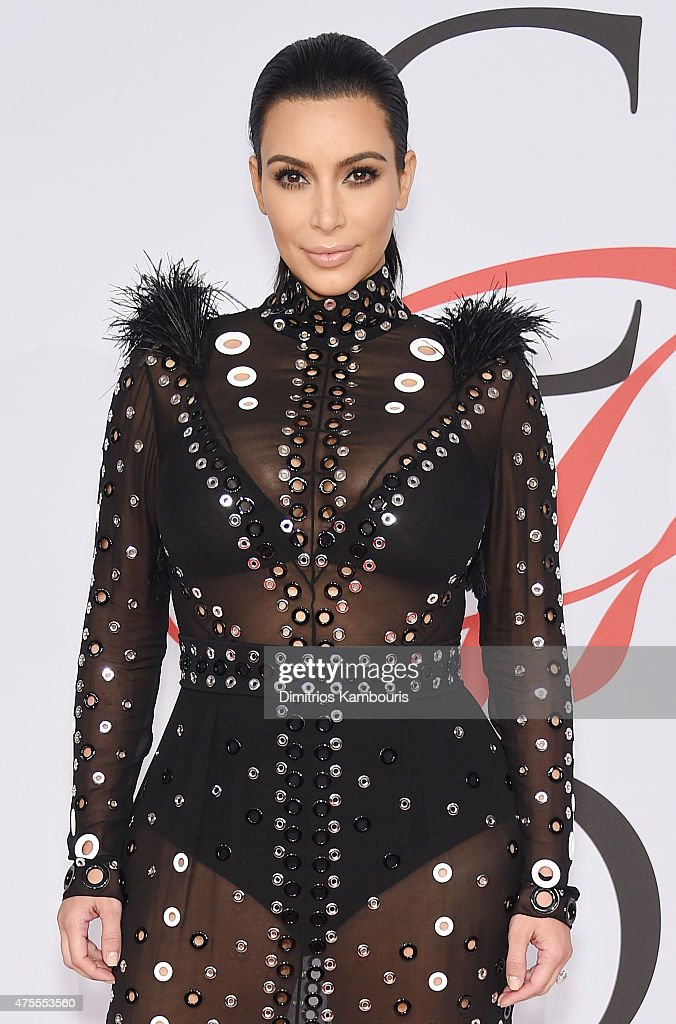TV Personality Kim Kardashian attends the 2015 CFDA Fashion Awards at Alice Tully Hall at Lincoln Center on June 1, 2015 in New York City.