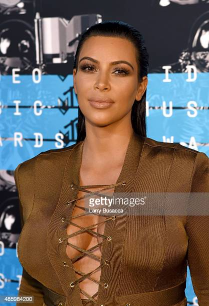 TV personality Kim Kardashian attends the 2015 MTV Video Music Awards at Microsoft Theater on August 30 2015 in Los Angeles California