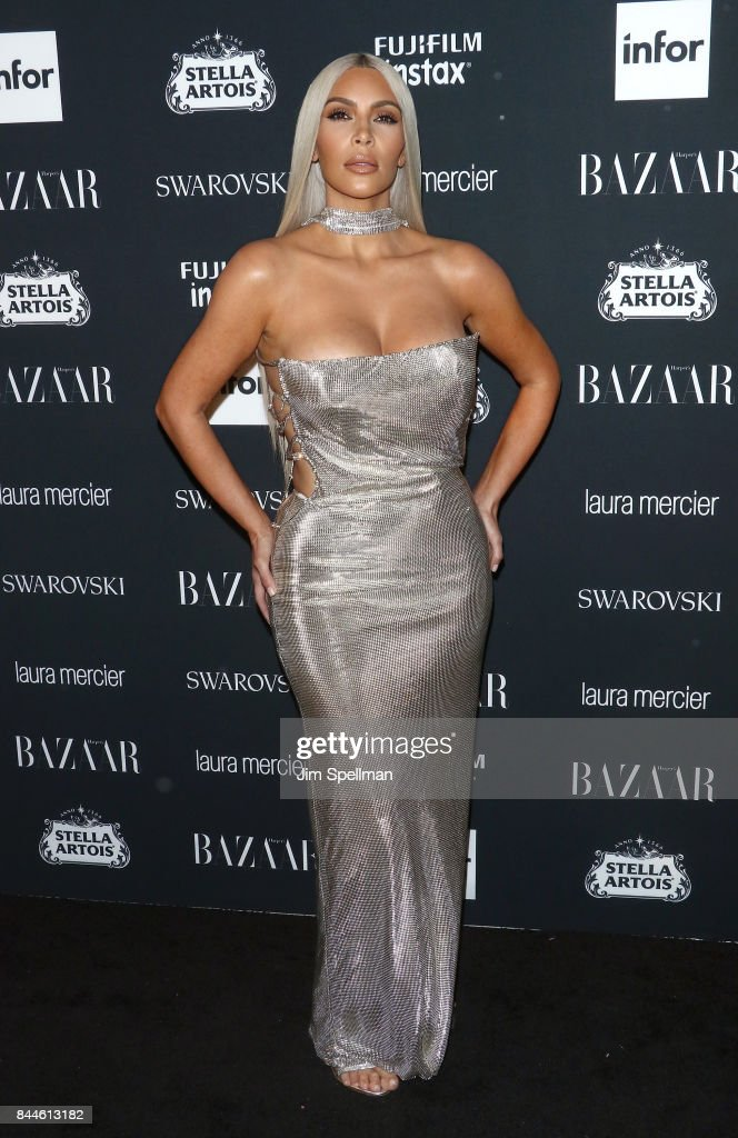 TV personality Kim Kardashian attends the 2017 Harper's Bazaar Icons at The Plaza Hotel on September 8, 2017 in New York City.