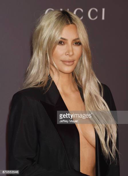 TV personality Kim Kardashian attends the 2017 LACMA Art Film Gala Honoring Mark Bradford and George Lucas presented by Gucci at LACMA on November 4...