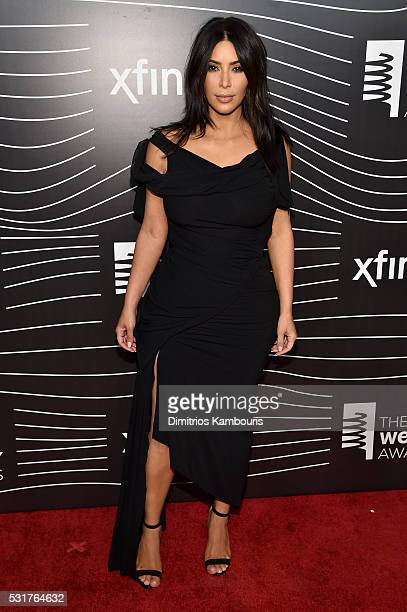 TV personality Kim Kardashian attends the 20th Annual Webby Awards at Cipriani Wall Street on May 16 2016 in New York City