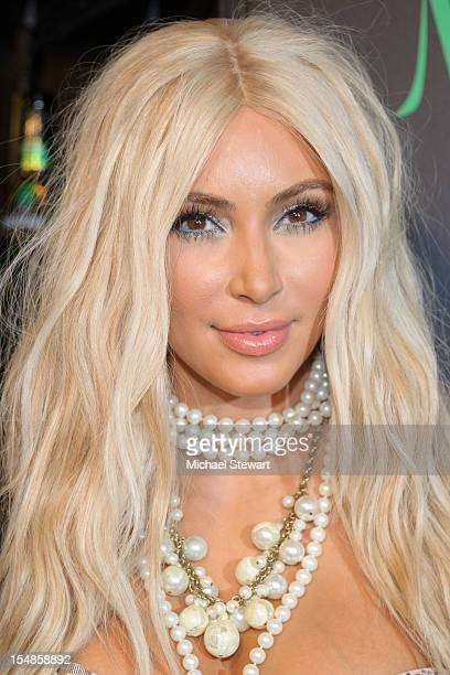 TV personality Kim Kardashian attends the 2nd annual Midori Green Halloween Party at Avenue on October 27 2012 in New York City
