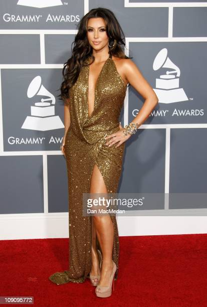 TV personality Kim Kardashian attends The 53rd Annual GRAMMY Awards at Staples Center on February 13 2011 in Los Angeles California