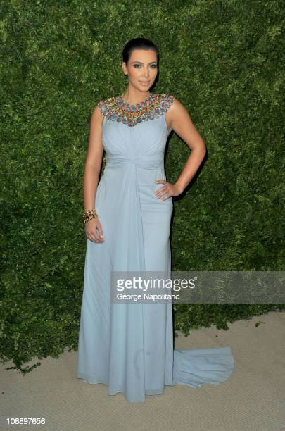 Personality Kim Kardashian attends the 7th Annual CFDA/Vogue Fashion Fund awards at Skylight SOHO on November 15, 2010 in New York City.