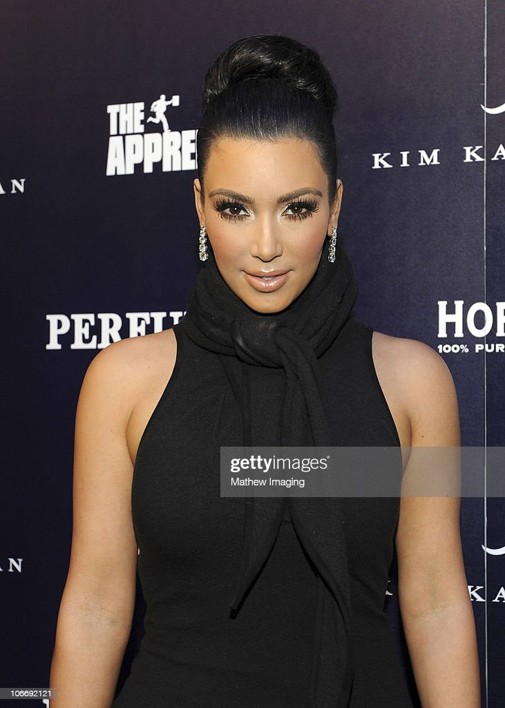 TV Personality Kim Kardashian attends the celebration of Perfumania and Kim Kardashian�s appearance on NBC�s 'The Apprentice' at the Provocateur at The Hotel Gansevoort on November 10, 2010 in New York, New York.