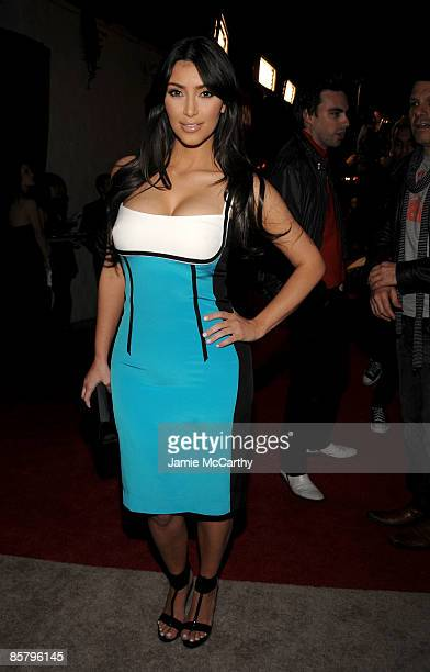 TV personality Kim Kardashian attends the I Heart Ronson launch party presented by Charlotte Ronson and JCPenney held at Bar Marmont on April 3 2009...