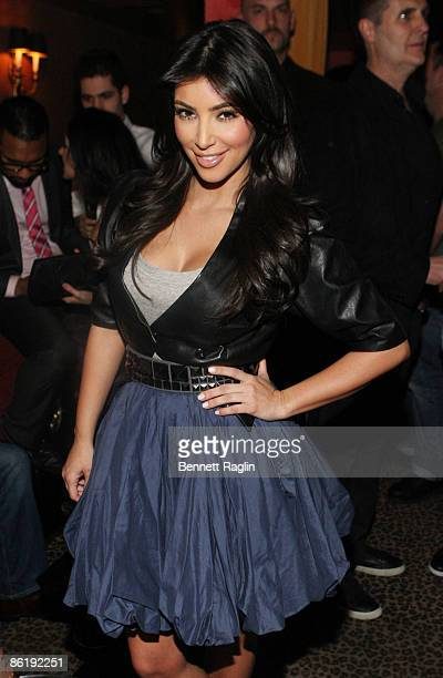 TV personality Kim Kardashian attends the official 2009 NFL draft party at M2 Ultra Lounge on April 23 2009 in New York City