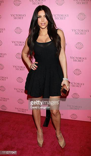 TV personality Kim Kardashian attends Victoria's Secret 2011 SWIM collection launch at Club L on March 30 2011 in Los Angeles California