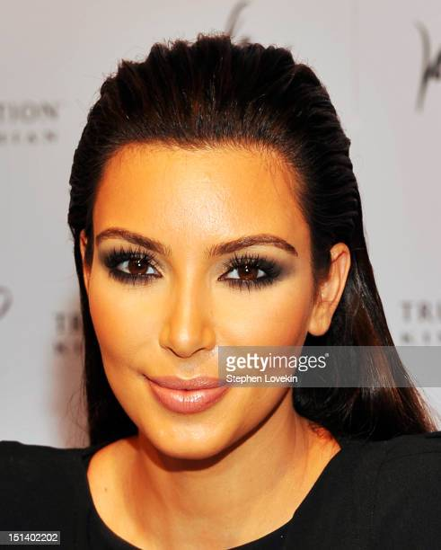 TV personality Kim Kardashian celebrates Fashion's Night Out 2012 at Lord Taylor on September 6 2012 in New York City