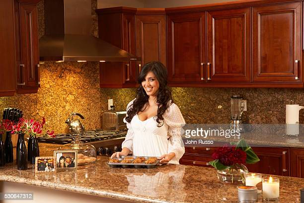 TV personality Kim Kardashian is photographed at home in Los Angeles California in 2007