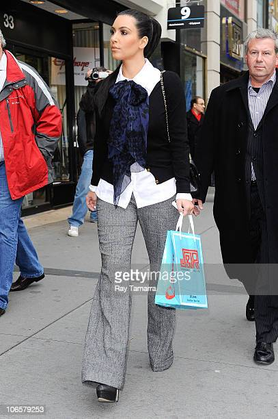 TV personality Kim Kardashian leaves JR Music and Computer World department store on November 5 2010 in New York City