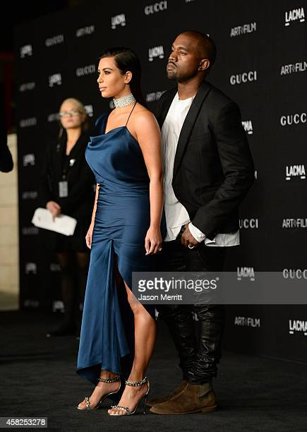 TV personality Kim Kardashian West and Recording artist Kanye West attend the 2014 LACMA Art Film Gala honoring Barbara Kruger and Quentin Tarantino...