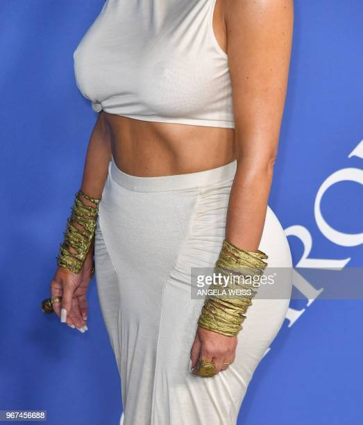 US TV personality Kim Kardashian West arrives at the 2018 CFDA Fashion awards June 4 2018 at The Brooklyn Museum in New York