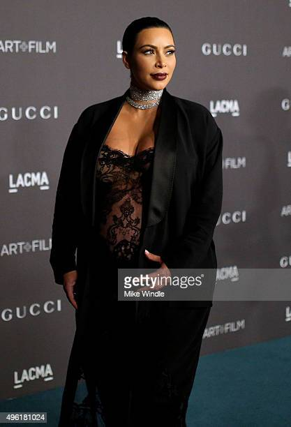 TV personality Kim Kardashian West attends LACMA 2015 ArtFilm Gala Honoring James Turrell and Alejandro G Iñárritu Presented by Gucci at LACMA on...