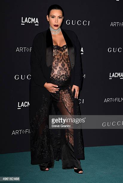 TV personality Kim Kardashian West attends LACMA 2015 ArtFilm Gala Honoring James Turrell and Alejandro G Iñárritu Presented by Gucci at LACMA on...
