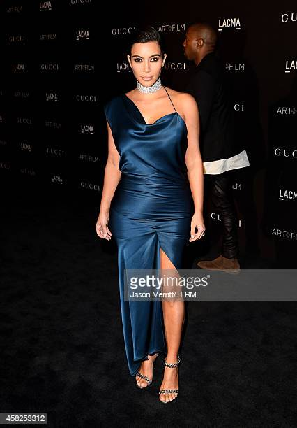 TV personality Kim Kardashian West attends the 2014 LACMA Art Film Gala honoring Barbara Kruger and Quentin Tarantino presented by Gucci at LACMA on...