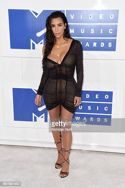 TV personality Kim Kardashian West attends the 2016 MTV Video Music Awards at Madison Square Garden on August 28 2016 in New York City