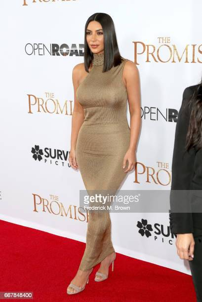 TV personality Kim Kardashian West attends the premiere of Open Road Films' 'The Promise' at TCL Chinese Theatre on April 12 2017 in Hollywood...