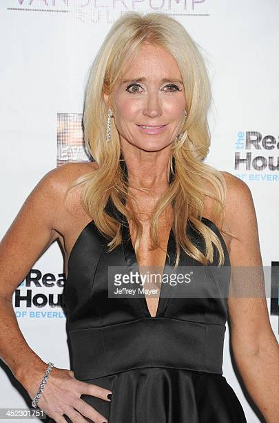 Personality Kim Richards arrives at 'The Real Housewives Of Beverly Hills' And 'Vanderpump Rules' premiere party at Boulevard3 on October 23, 2013 in...