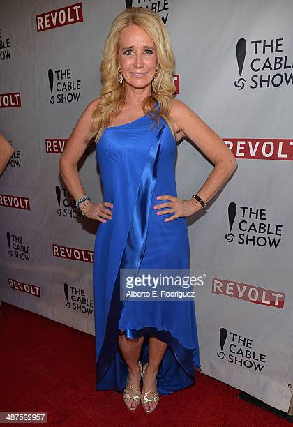 TV personality Kim Richards attends REVOLT and The National Cable and Telecommunications Association's Celebration of Cable at Belasco Theatre on...