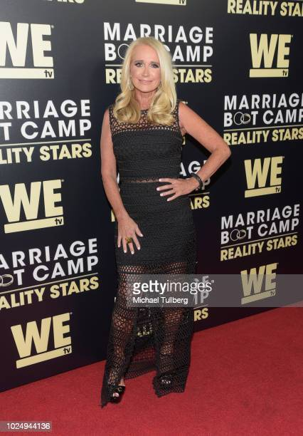 TV personality Kim Richards attends WE TV's celebration of the return of Marriage Boot Camp Reality Stars at HYDE Sunset Kitchen Cocktails on August...