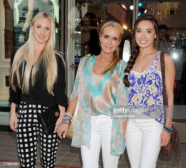 TV personality Kim Richards daughters Brooke Brinson and Kimberly Jackson arrive at a fashion fundraiser hosted by Kyle Richards benefiting...