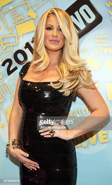 TV personality Kim Zolciak attends Bravo's Watch What Happens Live Andy's New Year's Party at the Bravo Club House at the Embassy Row Production...