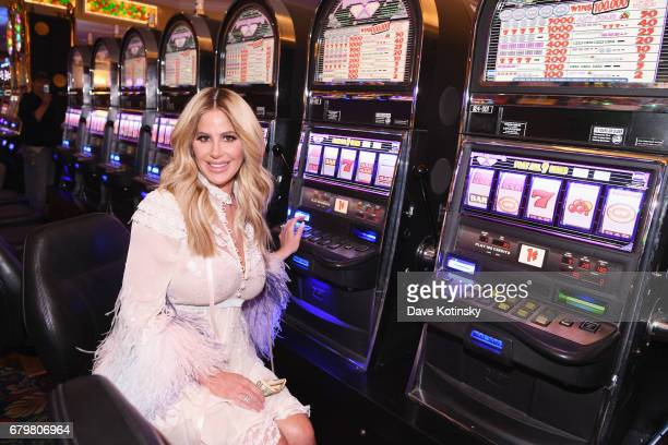 Personality Kim Zolciak hosts the Kentucky Derby hat contest at Empire City Casino at Yonkers Raceway on May 6 2017 in Yonkers New York